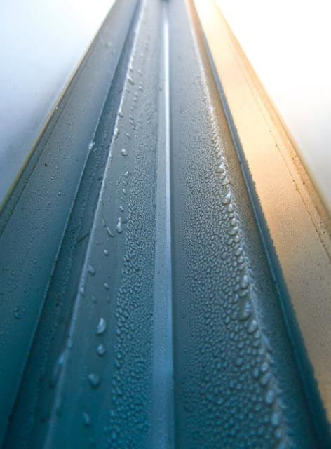 Seamless gutters don't come in a standard 10-foot length. In fact, they are professionally formed right on site.