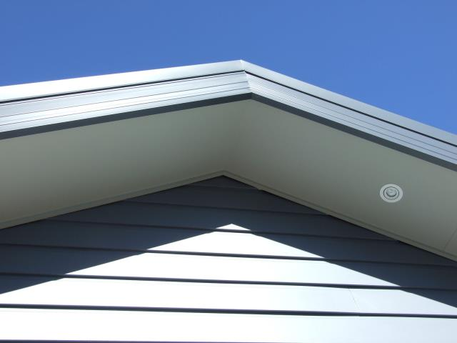Seamless gutters usually only have joints or miters at the corners wherever they wrap around the roof.
