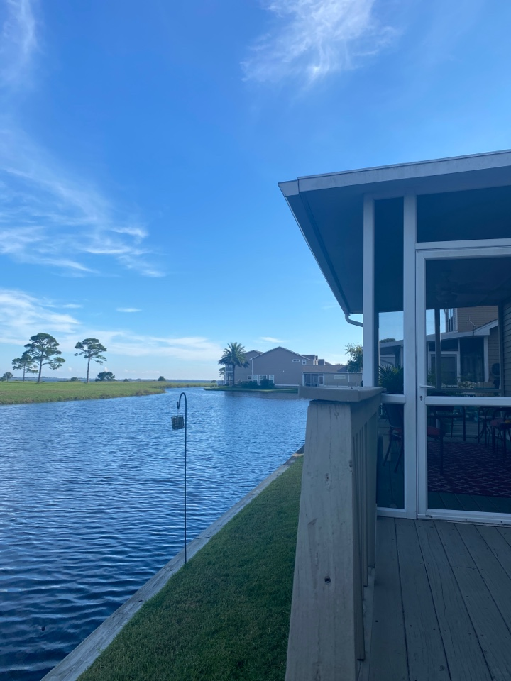 Gulf Breeze, FL - New gutters on this home in Gulfbreeze Florida