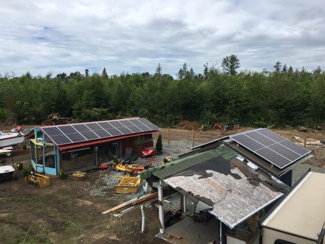 Ferndale, WA - Installing Solar at a residence in Ferndale, WA
