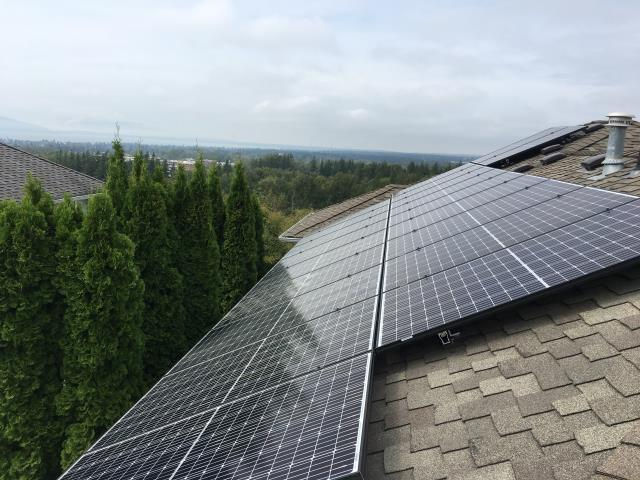 Bellingham, WA - Working on a solar installation at a residence in Bellingham, WA