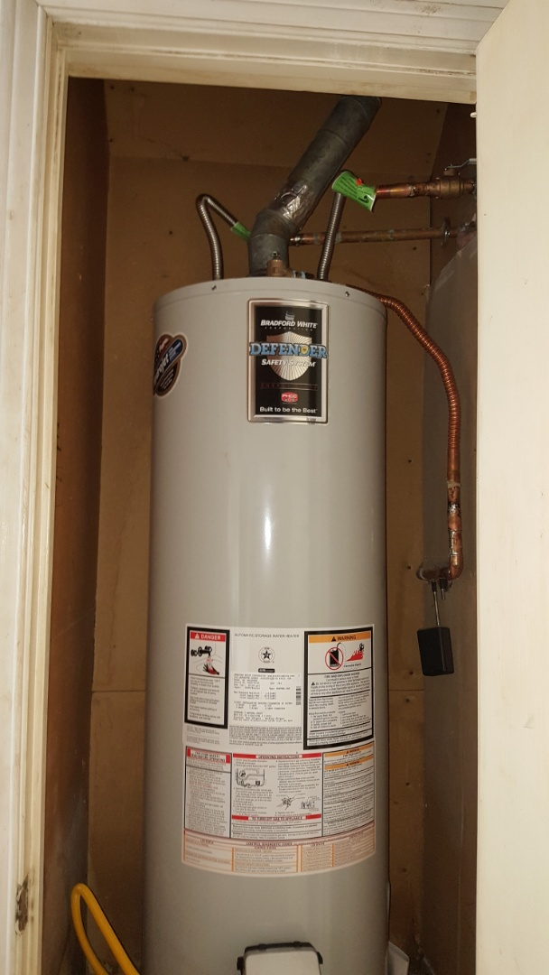 Richardson, TX - Plumber needed.  Replaced 50 gallon gas water heater