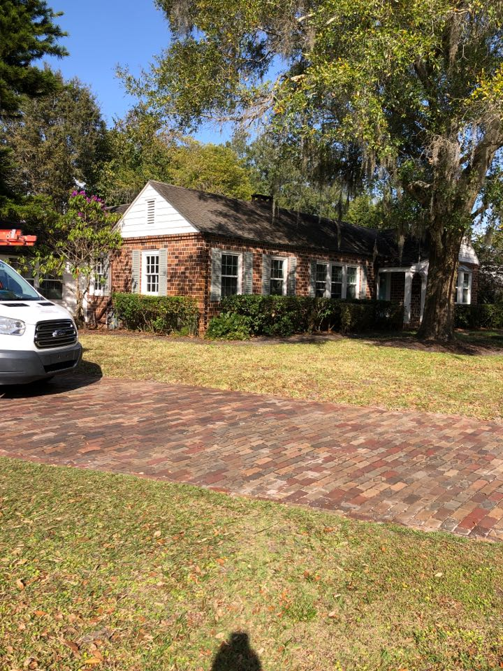 Orlando, FL - Today we are starting a new GAF TPO mechanically attached system on the low slope roof in rear of the home.