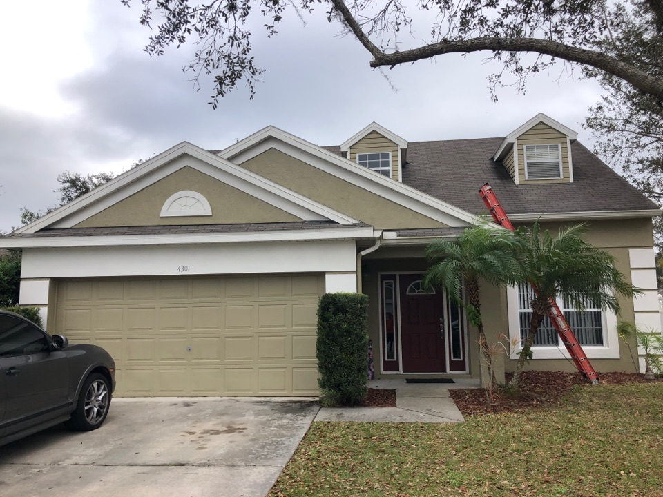 Orlando, FL - We are doing a roofing inspection today for this property, they have 3tab shingles installation, no leaks but they have several issues with damages (exposed nails, several missing shingles and lifted shingles)