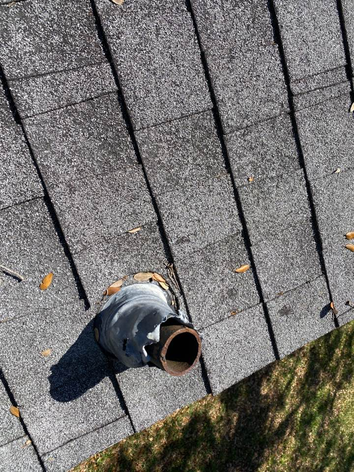 Orlando, FL - Hungry squirrels!!! That why we go the extra mile and provide pipe boot covers on our new IKO roofs