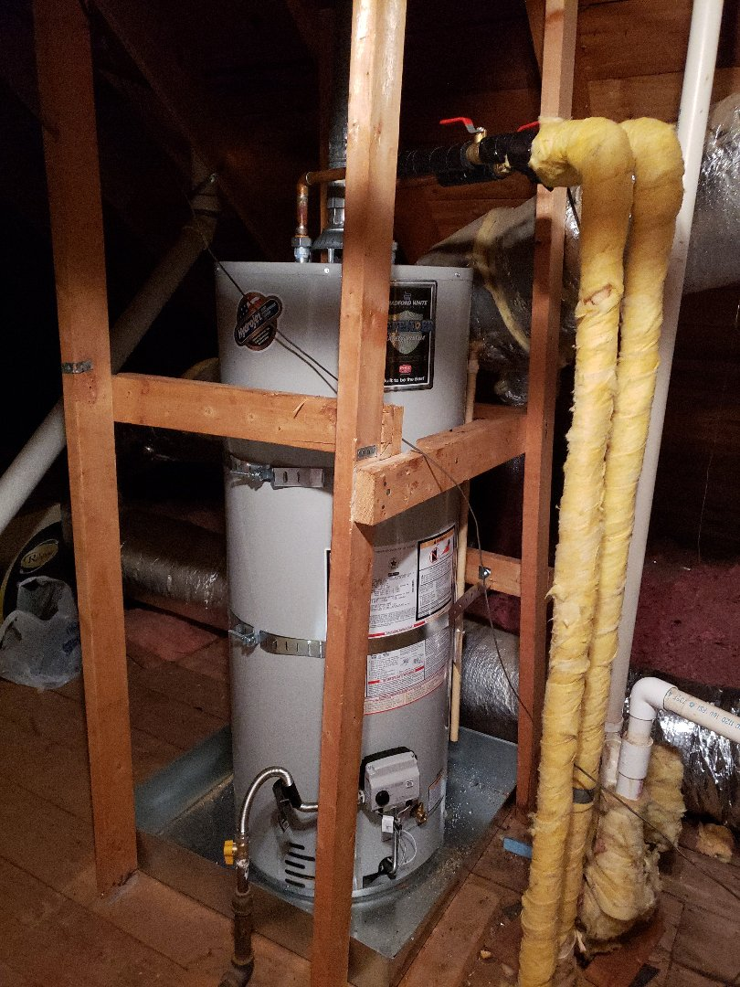 Germantown, TN - Install brand new 50 gallon  hydrojet bradford white  water heater
