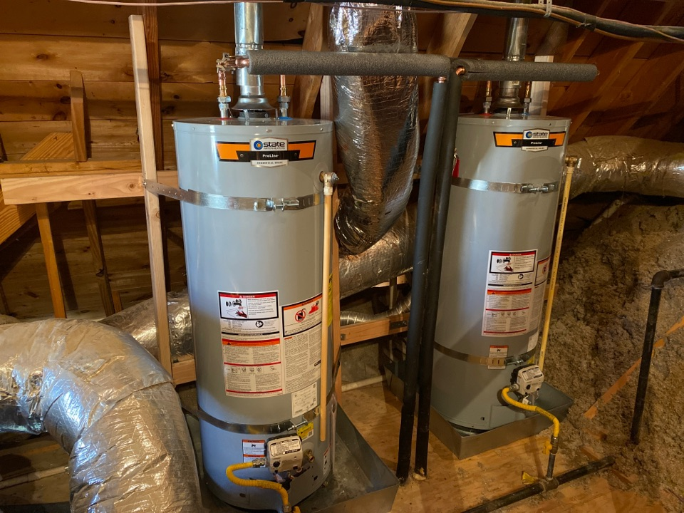 Collierville, TN - Replaced 250 gallon water heater's