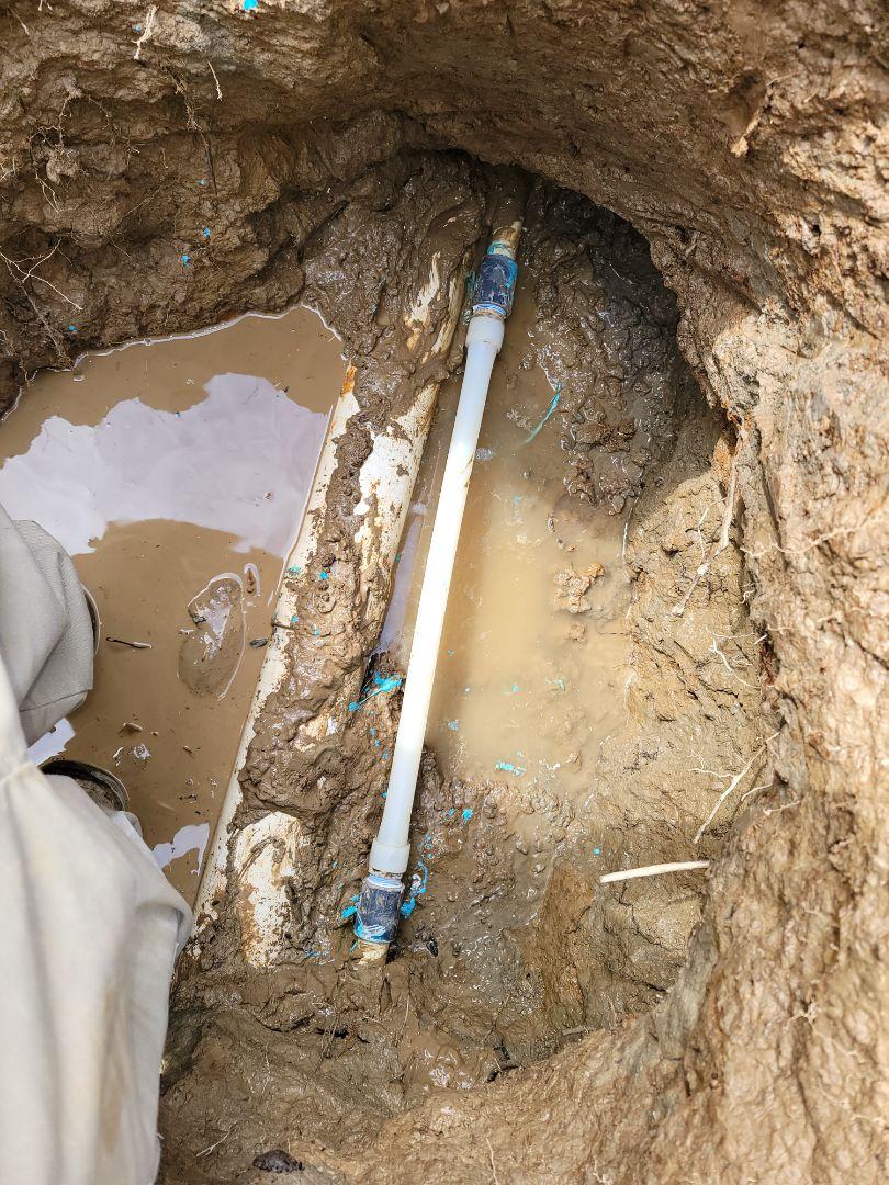 Germantown, TN - Plumbing water leak in yard