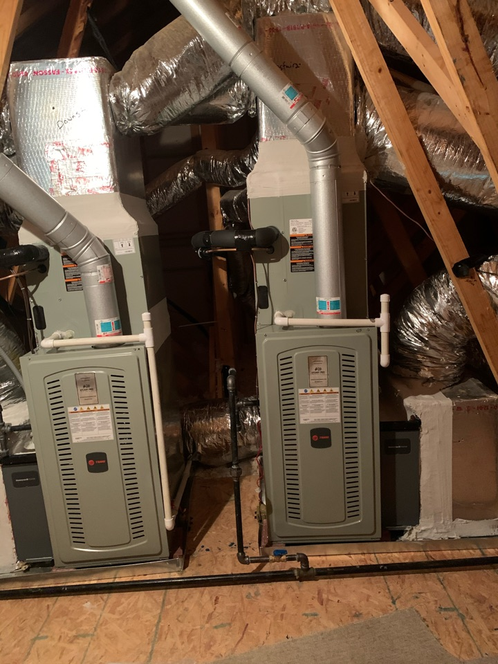Installed main and and upstairs systems