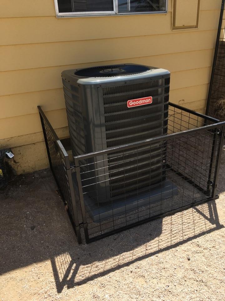 Palmdale, CA - Goodman air conditioner installation