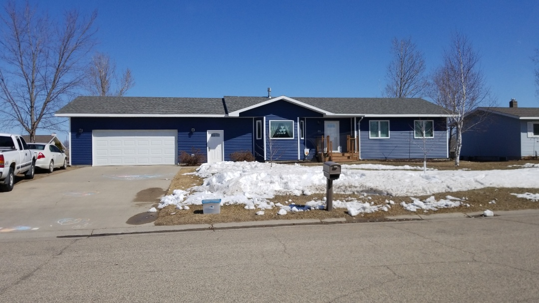 Frazee, MN - Homeowner is excited to report energy savings with the high efficiency vinyl window replacement from last fall