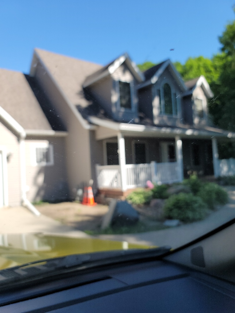 Detroit Lakes, MN - I provided a free estimate for a replacement shingle roof, seamless gutters and vinyl replacement windows.