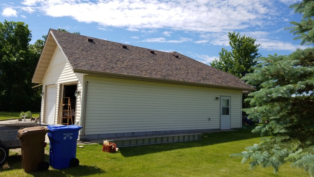 Frazee, MN - Homeowner is enjoying the new Owens Corning Duration Summer Harvest shingles