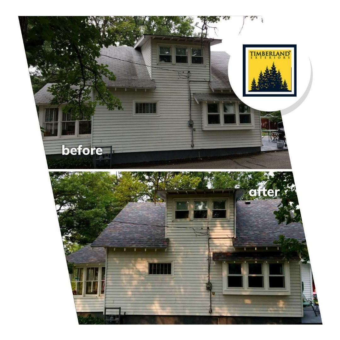 Detroit Lakes, MN - Home owner chose Owens Corning Duration series 50 year shingles, Colonial Slate color.