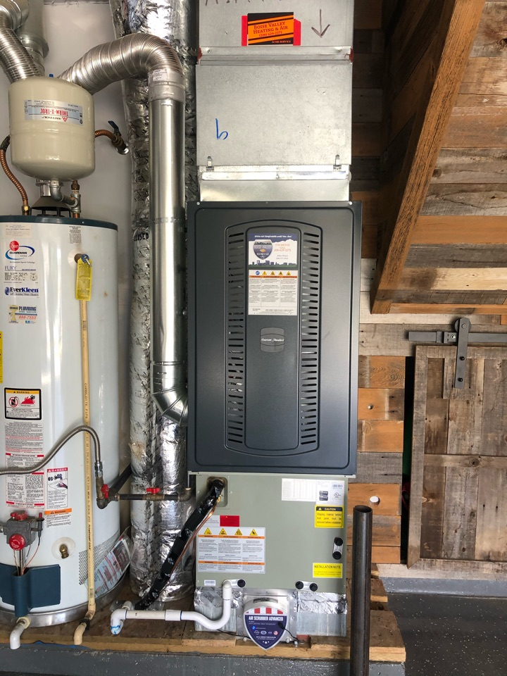 Boise, ID - Installed new furnace and AC for a customer in meridian
