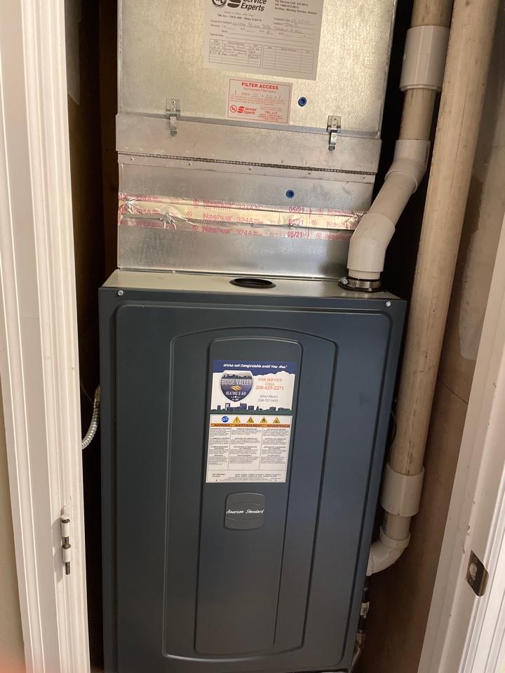 Eagle, ID - A brand new American standard furnace install