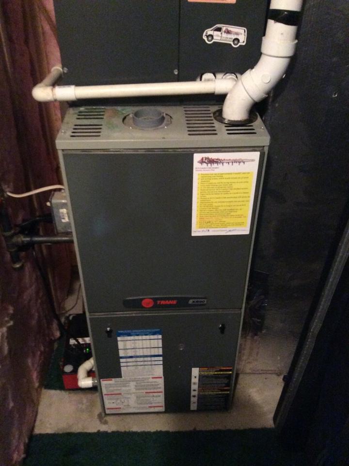 Fredericksburg, PA - Trane gas furnace repair