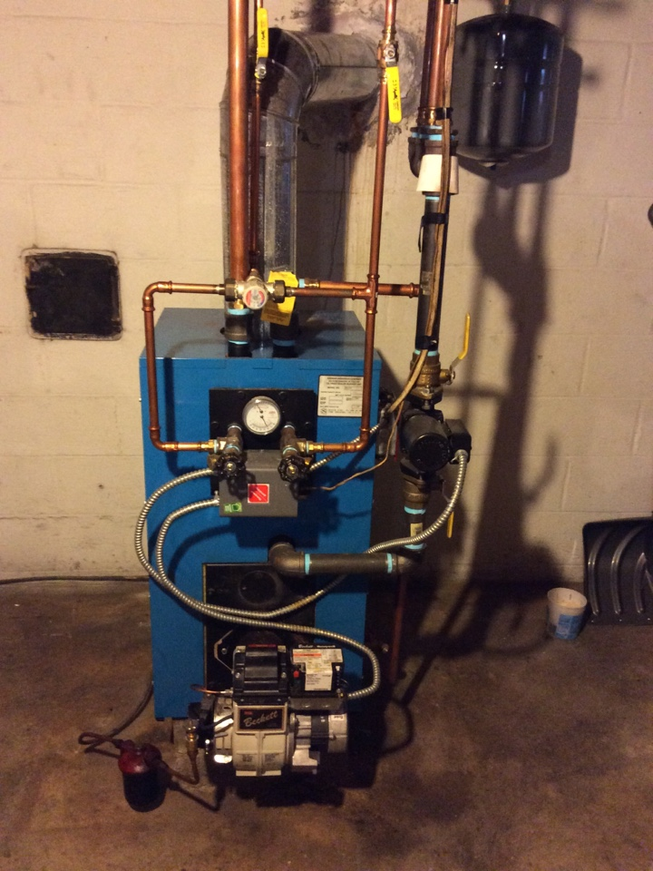 Camp Hill, PA - Perform annual maintenance on Axeman Anderson oil boiler