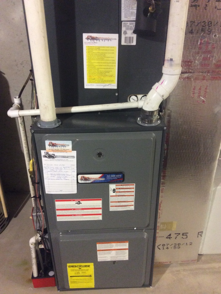 Lebanon, PA - Gas furnace servicing maintenance tune up cleaning and humidifier service