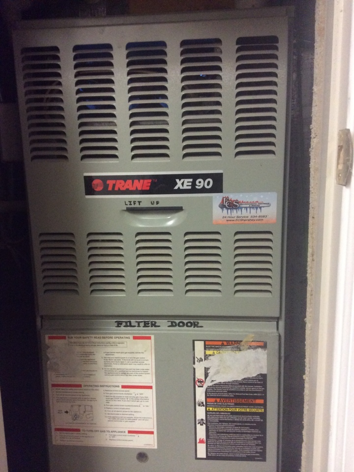 Harrisburg, PA - Gas furnace servicing maintenance tune up cleaning