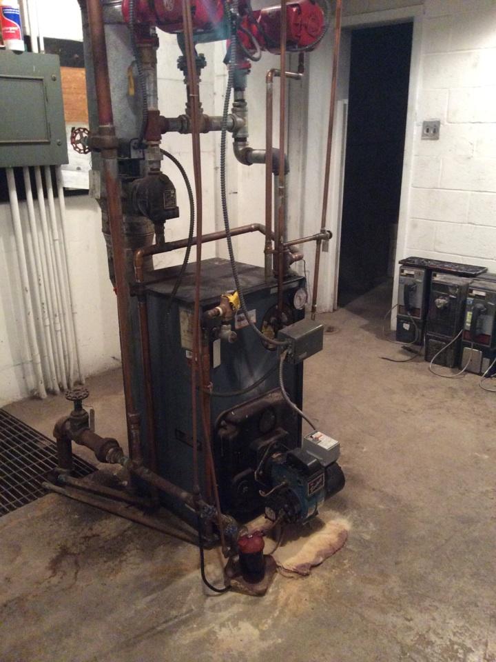 Palmyra, PA - Oil furnace boiler repair water line