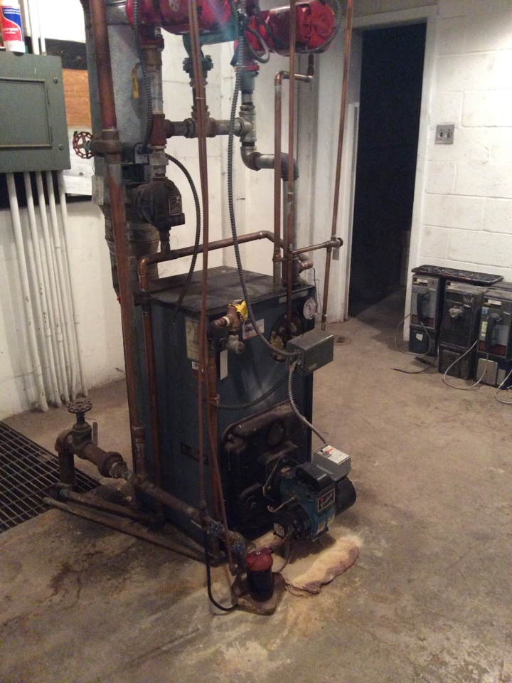 Harrisburg, PA - Oil furnace boiler servicing tune up preventive maintenance cleaning