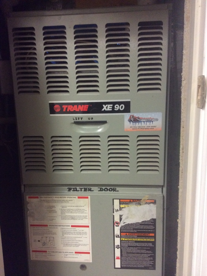 Gas furnace servicing maintenance tune up cleaning