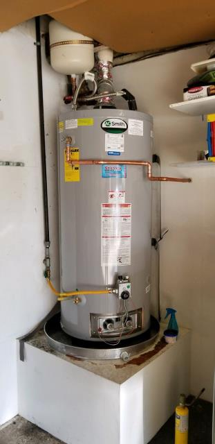 Upland, CA - Installed a  new 75 gallon residential water heater in Upland today.