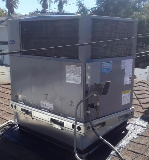 La Verne, CA - Replaced 30+ year old system today with a new Carrier package unit.