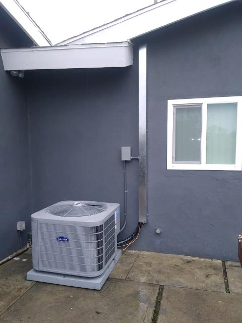 Montclair, CA - New air conditioner installed in Montclair today.