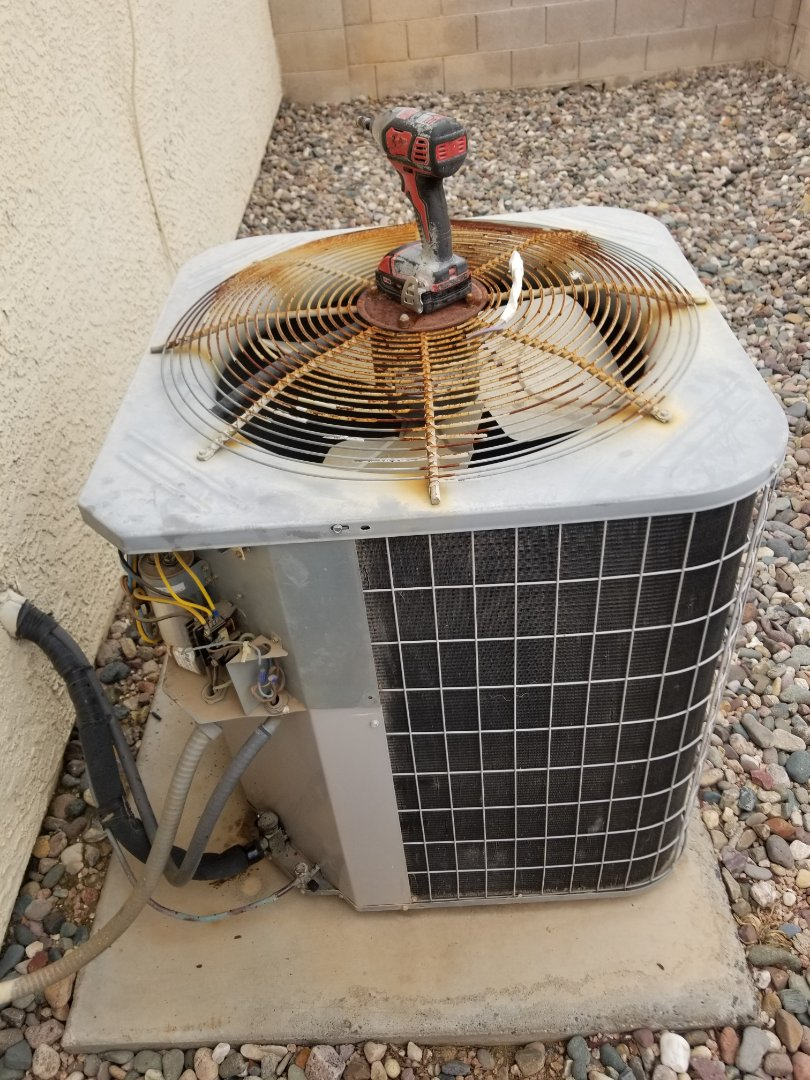 Peoria, AZ - Out here in Avondale working on an amazing customer's AC unit.