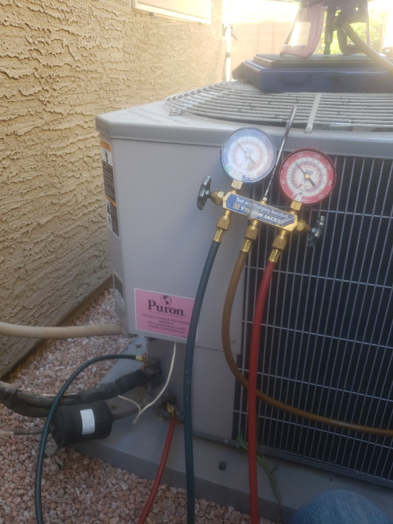 Youngtown, AZ - Service call on a Carrier split system in Youngtown, Arizona.
