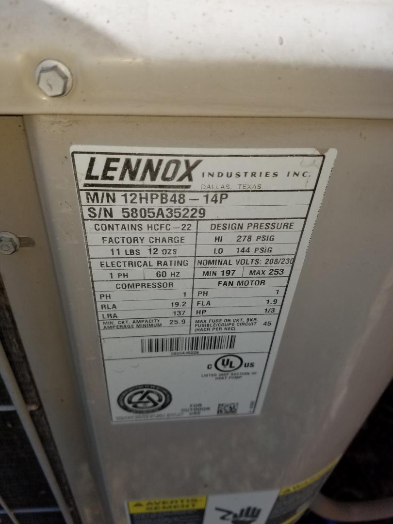 Goodyear, AZ - Doing a tune up on an AC Lennox unit.