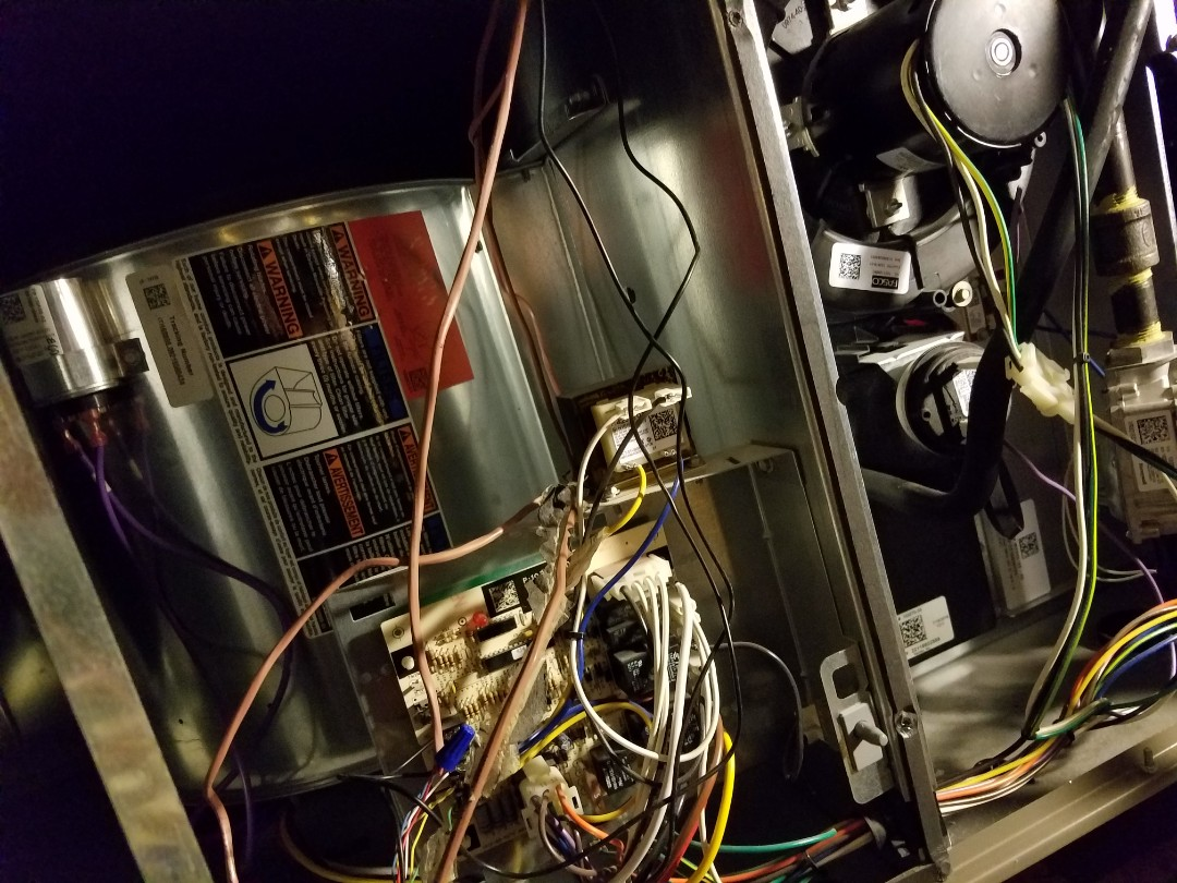 Doing a tune up on a trane unit.