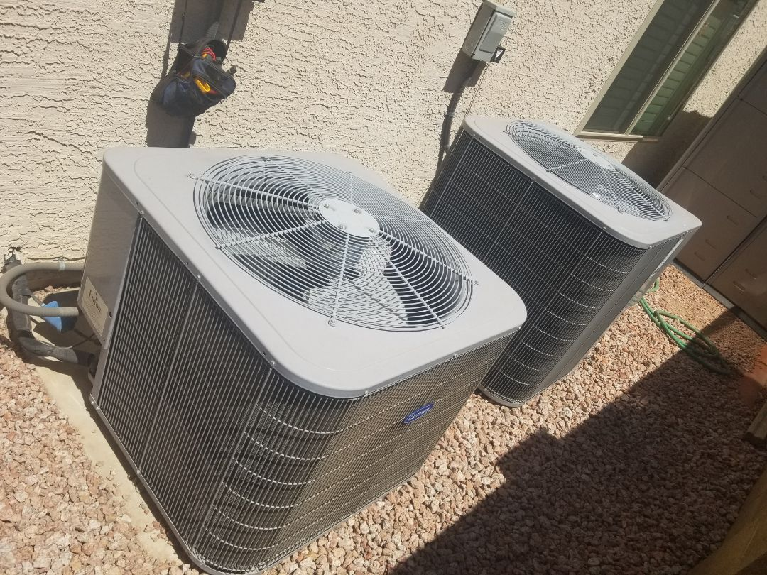 Glendale, AZ - Preventive maintenance on 2 carrier units for amazing customers in Glendale