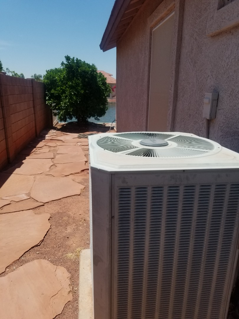 Glendale, AZ - Preventive maintenance on a Trane unit in Arrowhead Lakes