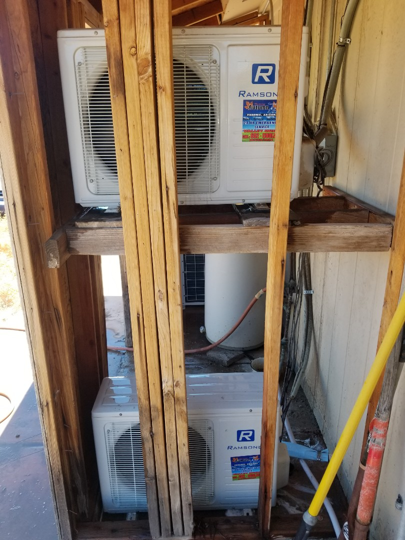 Maintenance on ductless mini splits in new river
