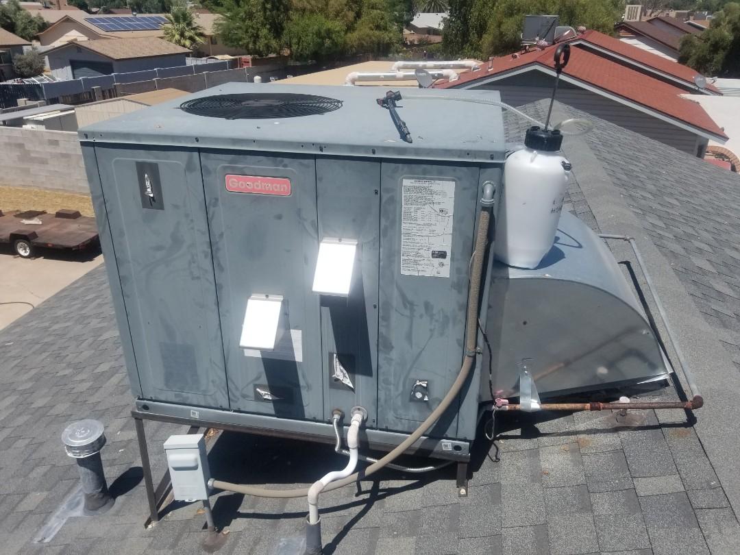 Phoenix, AZ - Preventive maintenance on a Goodman gas pack in phoenix for a amazing customer