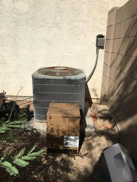Buckeye, AZ - Compressor change and coil clean for customer in Verrado.