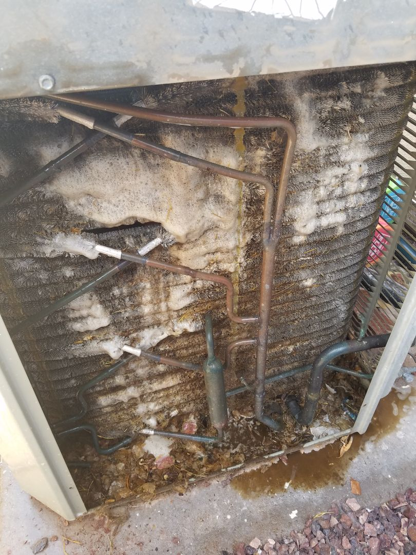 Phoenix, AZ - Doing a tune up and a condenser coil cleaning.