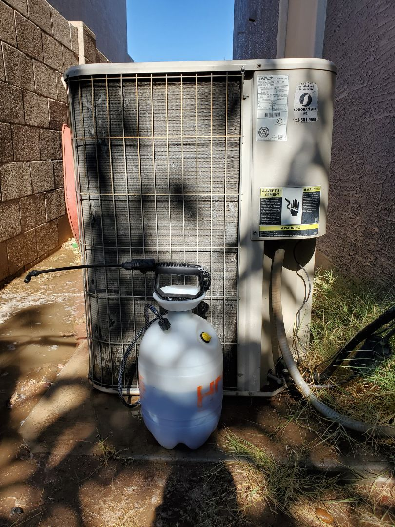 Avondale, AZ - Preventative Maintenance and Outdoor Coil Clean on a Lennox Gas Split System