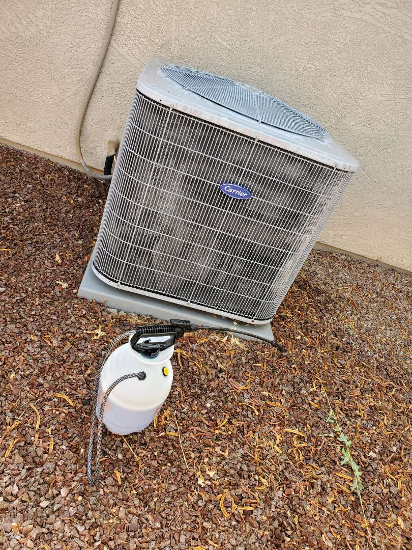 Goodyear, AZ - Preventative Maintenance and Outdoor Coil Clean on a Carrier gas Split System
