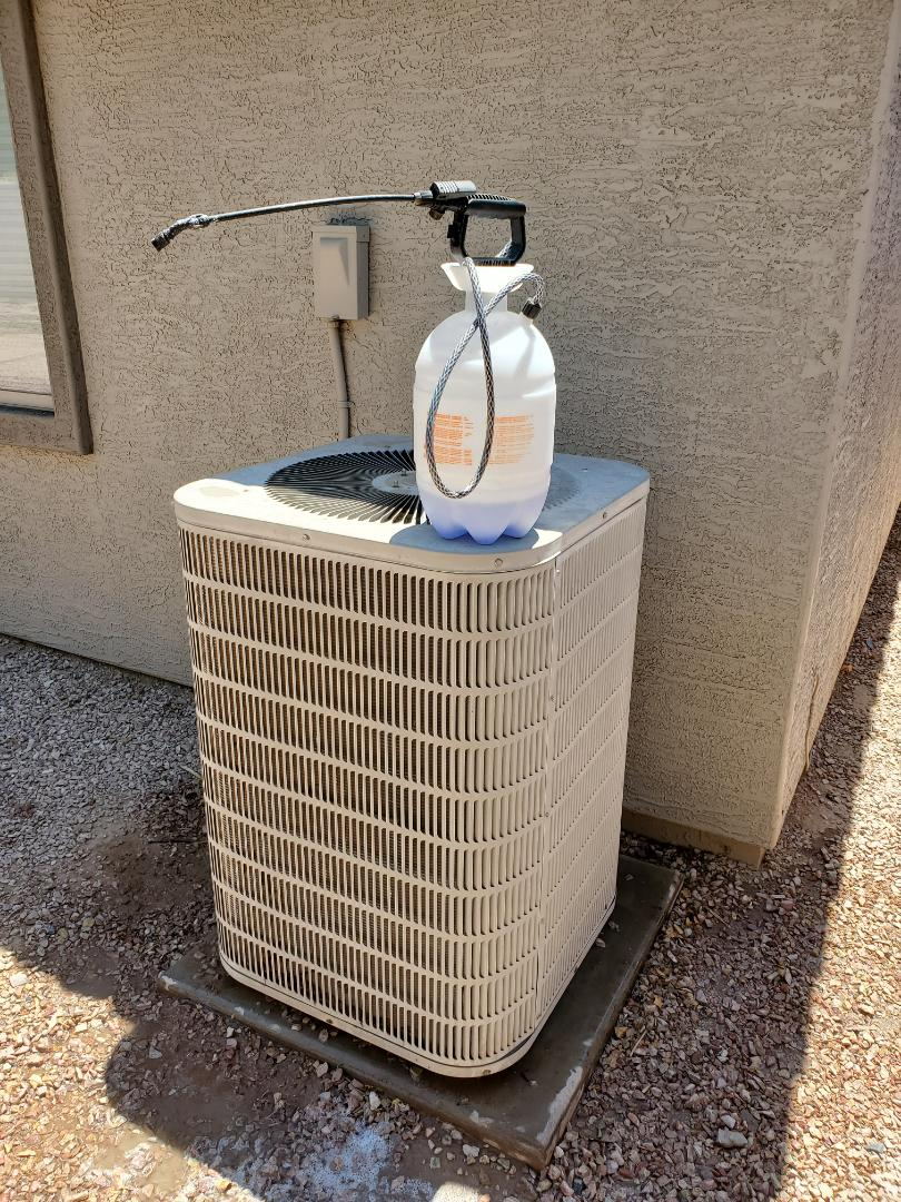 Summer Special Tune-up and Outdoor Coil Clean on a Goodman Heat Pump Split System