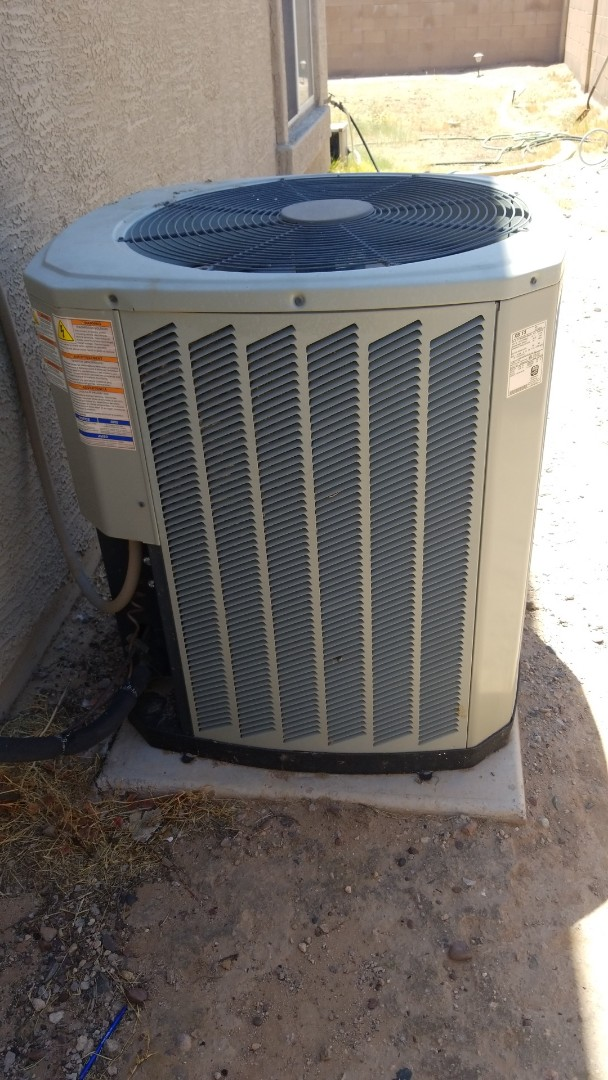 Goodyear, AZ - Completed a routine maintenance tune up and coil cleaning on a Trane unit in Goodyear, Arizona