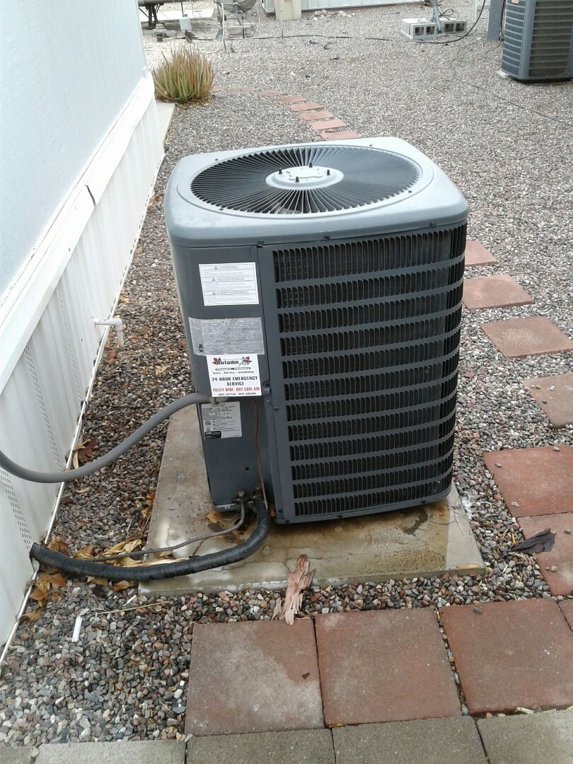 Glendale, AZ - Tune up on an air conditioner unit in Glendale Arizona.