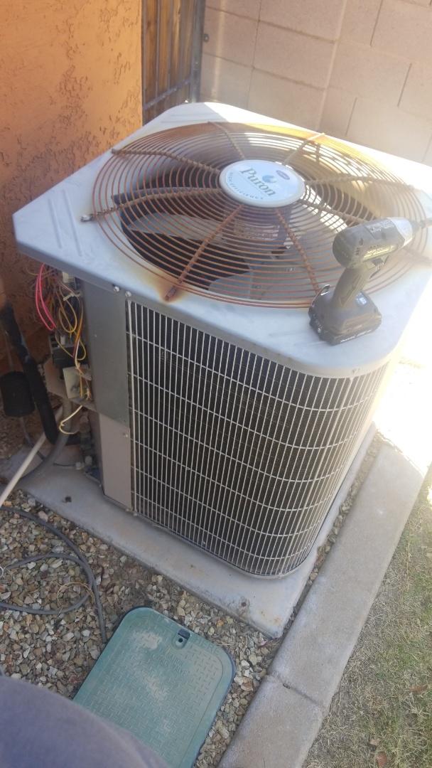 Goodyear, AZ - Running a service call where the fan motor was not turning, in Goodyear Arizona