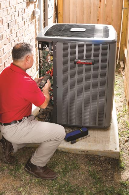 Surprise, AZ - Doing a regular preventative maintenance on a home ac unit for one of our happy customers, out here in Surprise Arizona. Providing a free coil clean of the condenser coil, included in their plan.