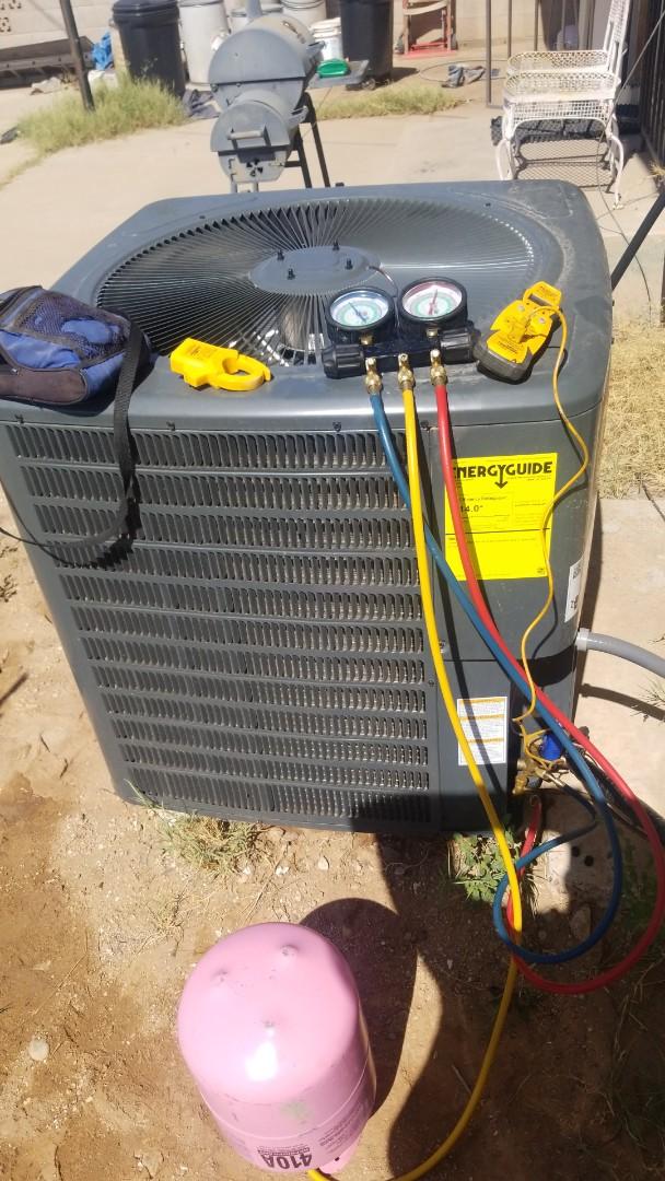 Phoenix, AZ - Preforming a service call in Phoenix, Arizona with a Goodman A/C Unit not cooling properly.