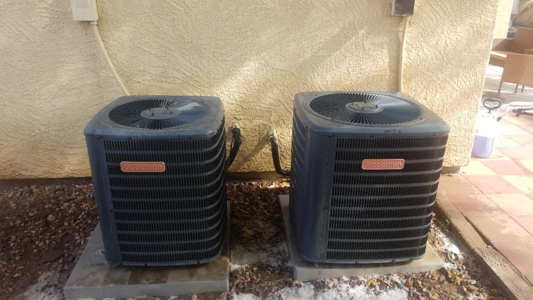 Phoenix, AZ - Completed a Groupon Tune Up on 2 Goodman A/C units in Laveen, Arizona