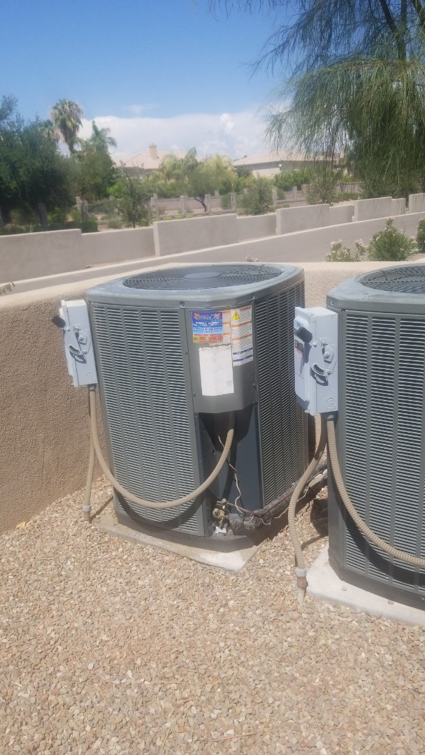 Litchfield Park, AZ - Preformed a service call on a unit where the condenser was not running  in Litchfield Park, Arizona.